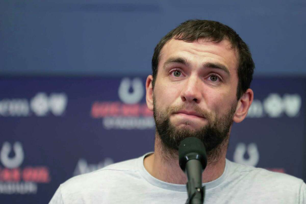PHOTOS: Current NFL players from Houston Indianapolis Colts quarterback Andrew Luck speaks during a news conference following the team's NFL preseason football game against the Chicago Bears, Saturday, Aug. 24, 2019, in Indianapolis. The oft-injured star is retiring at age 29. (AP Photo/Michael Conroy) >>>A look at 2018 NFL rosters and picking out which players played high school football in Houston ...