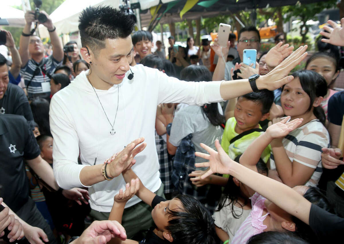 Jeremy Lin of the Toronto Raptors meets fans on July 28, 2019 in Taipei, Taiwan of China.