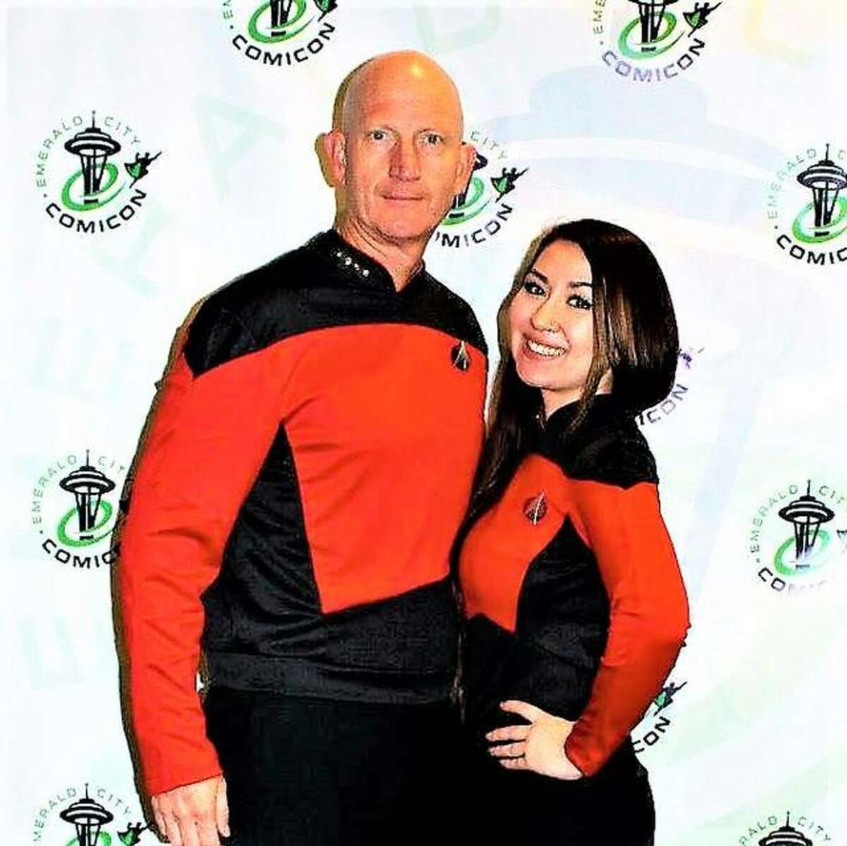 Phil VanEtten with his daughter, Christal, at Emerald City ComiCon. Phil VanEtten currently is USO Director in Okinawa, Japan. Christal VanEtten now lives in Bethalto and is creating a podcast for