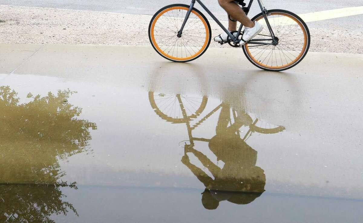 Change up your routine. Ride the bike around the neighborhood.