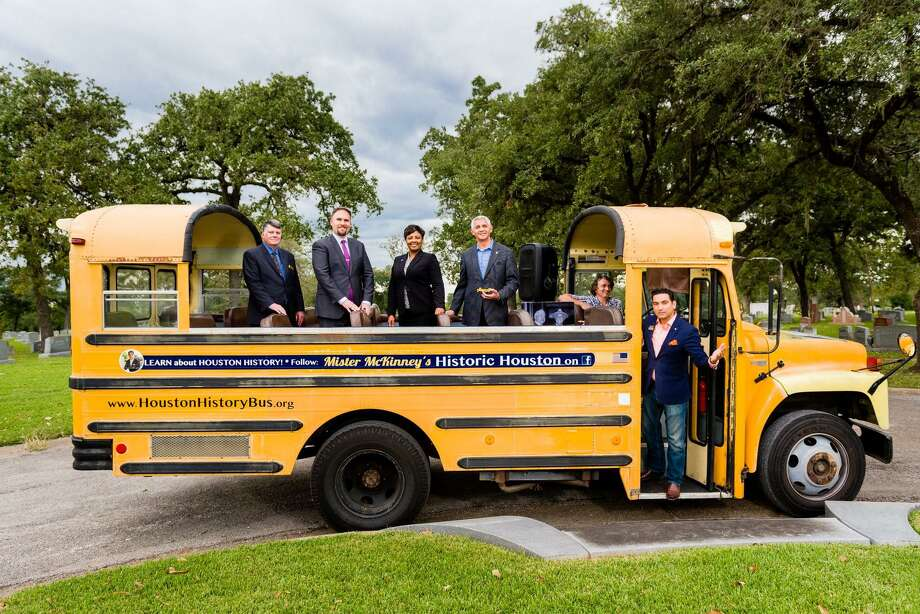 Mister McKinney's Historic Houston will lead free bus tours of historic downtown Houston on Saturday, Aug. 31, as part of the city's 183rd anniversary event. The celebration at Connally Plaza will also include free pizza, drinks and birthday cake. Photo: Courtesy Photo