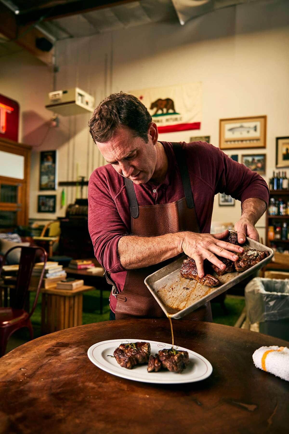 Adam Perry Lang is opening a new restaurant in Yountville. It is called Perry Lang's.