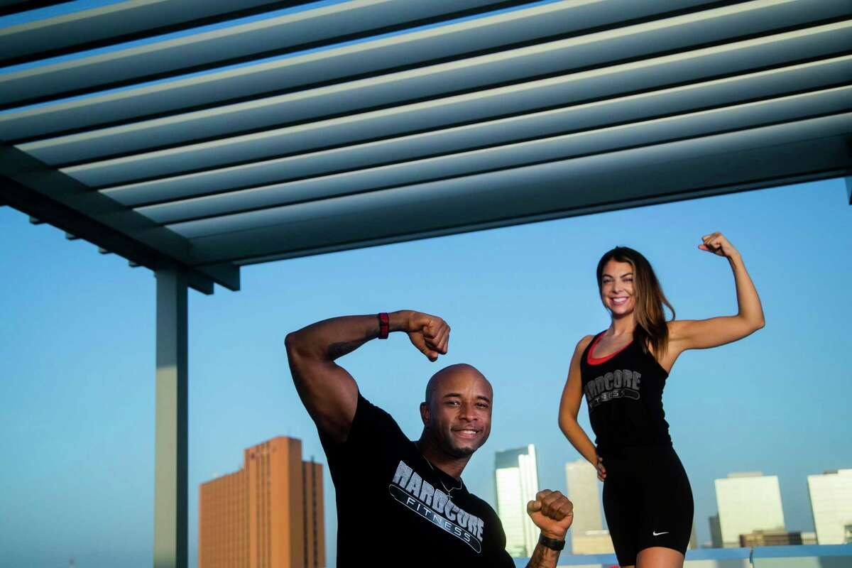 Wayne and Claire Davis own HardCore Fitness, with Pilates and Bounce classes. Their relationship is based on fitness and faith.