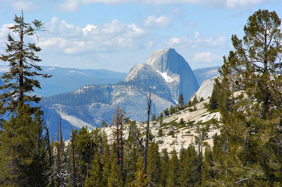 Half Dome from Olmsted Point on the Tioga Road, Tioga Pass, Yosemite National Park. Yosemite will begin its phased reopening on Thursday, June 11, 2020. Photo: VW Pics/Universal Images Group Via Getty