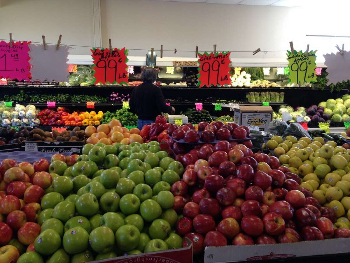 A view of the interior of the Yolo Fruit Stand outside of Davis.