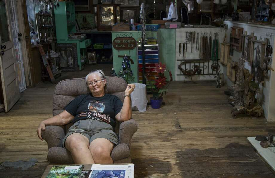 """This is my little rock shop,"" said Suzanne Franklin, 68, whose store is off Main St. in town. Photo: Jon Shapley/Staff Photographer"