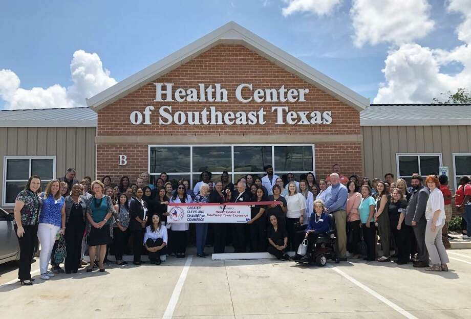 The Greater Cleveland Chamber of Commerce held a ribbon cutting ceremony for the new Health Center of Southeast Texas on Aug. 6 Photo: Contributed Photo