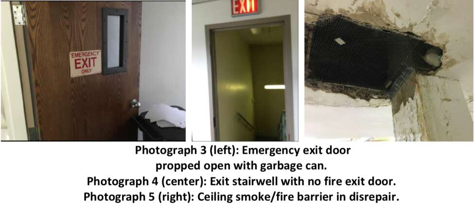 An audit on New York nursing homes by the U.S. Department of Health and Human Services Office of Inspector General found numerous deficiencies in areas related to the safety of residents and emergency preparedness. The photos above were taken at unnamed facilities and included in the audit report.