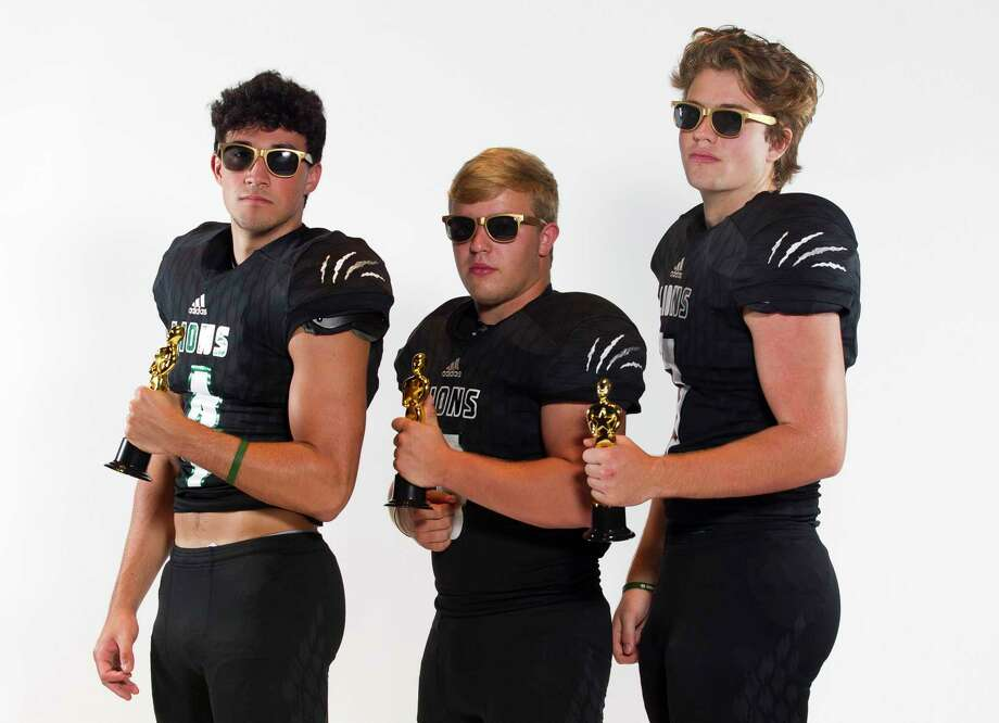 From left, Sam Bargainer, Carson McDonald and Harrison Shook of Legacy Prep pose for a portrait at The John Cooper School on Saturday, July 27, 2019. Photo: Jason Fochtman, Houston Chronicle / Staff Photographer / Houston Chronicle