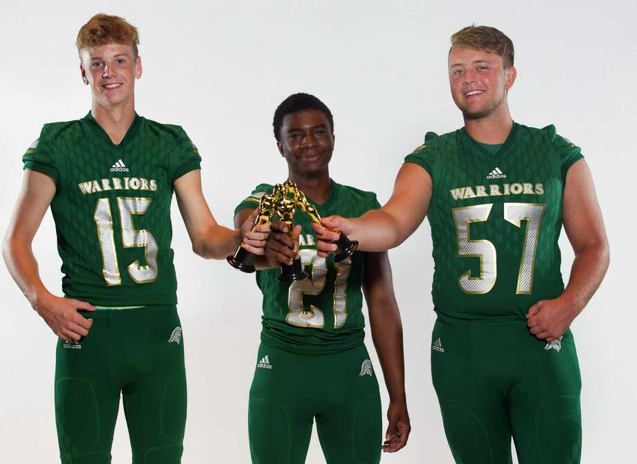 From left: Caedmon Parker, Dane Jackson and Ethan Hummel will be key players for The Woodlands Christian Academy this season. Photo: Jason Fochtman, Houston Chronicle / Staff Photographer / Houston Chronicle