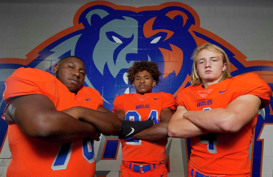 From left, Jordan Wilson, David Wilkins and Hyrum Myers pose for a portrait at Grand Oaks High Schools. Photo: Jason Fochtman, Houston Chronicle / Staff Photographer / Houston Chronicle
