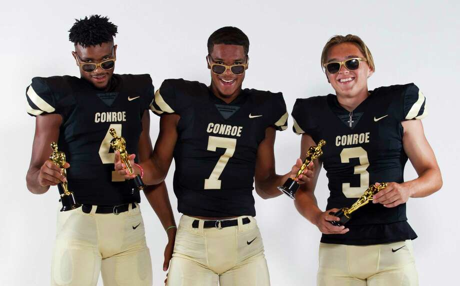 From left, Michael Phoenix II, Alex Morrison and Christian Pack of Conroe pose for a portrait at The John Cooper School on Saturday, July 27, 2019. Photo: Jason Fochtman, Houston Chronicle / Staff Photographer / Houston Chronicle