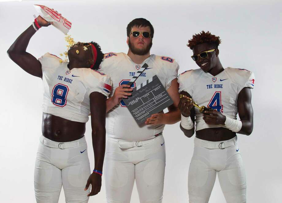 From left: Outside linebacker KC Ossai, offensive lineman Austin Harris and running back Alton McCaskill will be playing key roles for Oak Ridge this season. Photo: Jason Fochtman, Houston Chronicle / Staff Photographer / Houston Chronicle