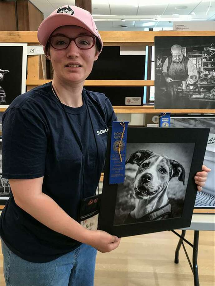 North Haven Camera Club member Helen Pappas won a New England Camera Club Council (NECCC) Honor Award for her photo print of a friend's dog. NECCC is displaying Pappas' photo at numerous locations around New England. Photo: Bob Parisi, North Haven Camera Club / Contributed Photo