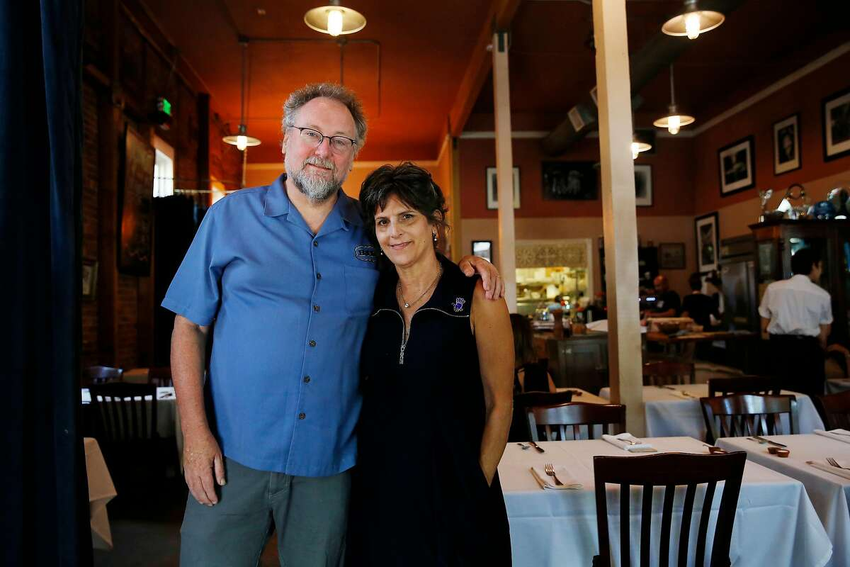 Patrick Mulvaney (l to r) and Bobbin Mulvaney, stand for a portrait at their restaurant Mulvaney's B & L�on Tuesday, August 7, 2019 in Sacramento, Calif. The Mulvaney's started the