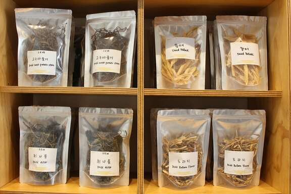 Some of the dried seaweed available at Queens, a Korean superette in San Francisco.
