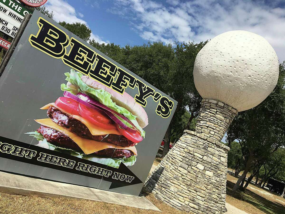 Beefy's on the Green is a burger joint at U.S. 281 North and Rebecca Creek Road in Spring Branch north of San Antonio.
