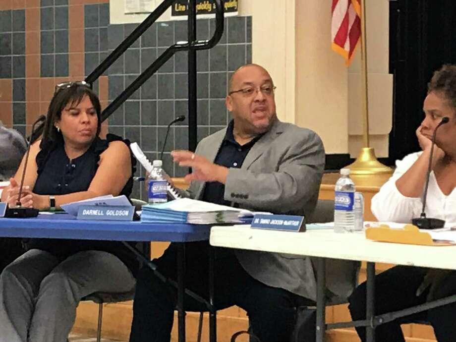 Board of Education President Darnell Goldson on Aug. 26, 2019. Photo: Brian Zahn/Hearst Connecticut Media