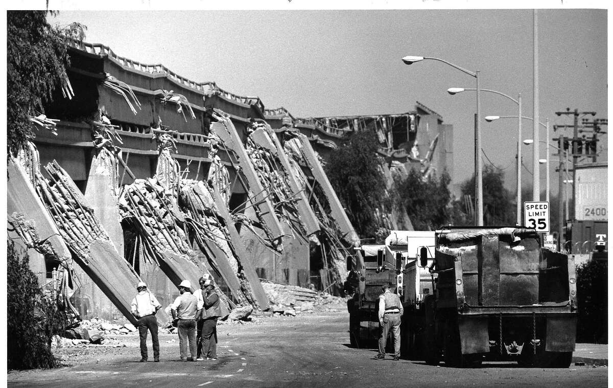 Cypress structure of Highway 880 in Oakland collapsed during the Loma Prieta earthquake in 1989 150 Anniversary maybe