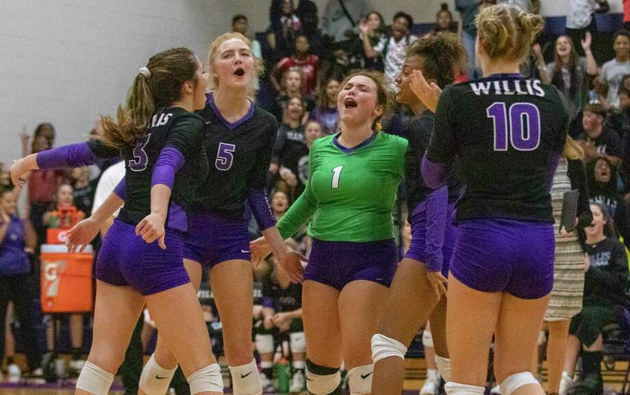 The Willis Ladykats celebrate after scoring during a non-district match Tuesday, August 27, 2019 at Willis High School. Photo: Cody Bahn, Houston Chronicle / Staff Photographer / © 2019 Houston Chronicle