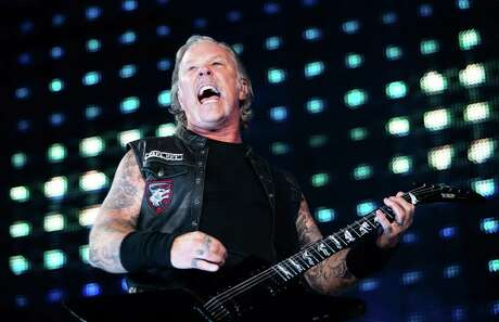 James Hetfield of Metallica performs on stage during a concert at the Ernst-Happel-Stadion in Vienna, Austria on August 16, 2019.