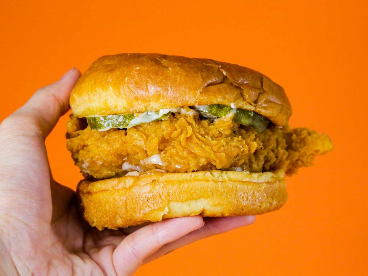 The Popeyes Louisiana Kitchen fried chicken sandwich