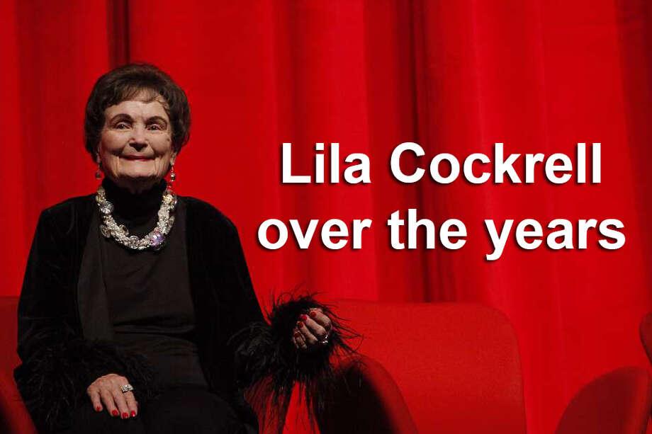 Click ahead to view photos of former San Antonio Mayor Lila Cockrell over the years. Photo: KIN MAN HUI/SAN ANTONIO EXPRESS-NEWS