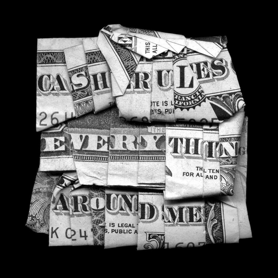 "Dan Tague's 40x40-inch print ""Cash Rules Everything"" is among works in the group show ""Exchange Rate,"" opening July 13 at Galveston Arts Center. Photo: Courtesy Of The Artist / Courtesy Photo"