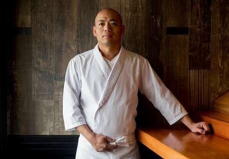 Hamano sushi chef Jiro Lin poses for a portrait while at his restaurant in the Noe Valley neighborhood of San Francisco, Calif. Saturday, August 24, 2019.