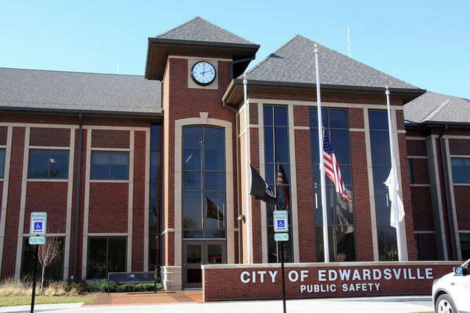 The Edwardsville Public Safety Building opened at the end of 2017, replacing a much smaller facility further north on Main Street. Photo: Bre Booker | The Intelligencer
