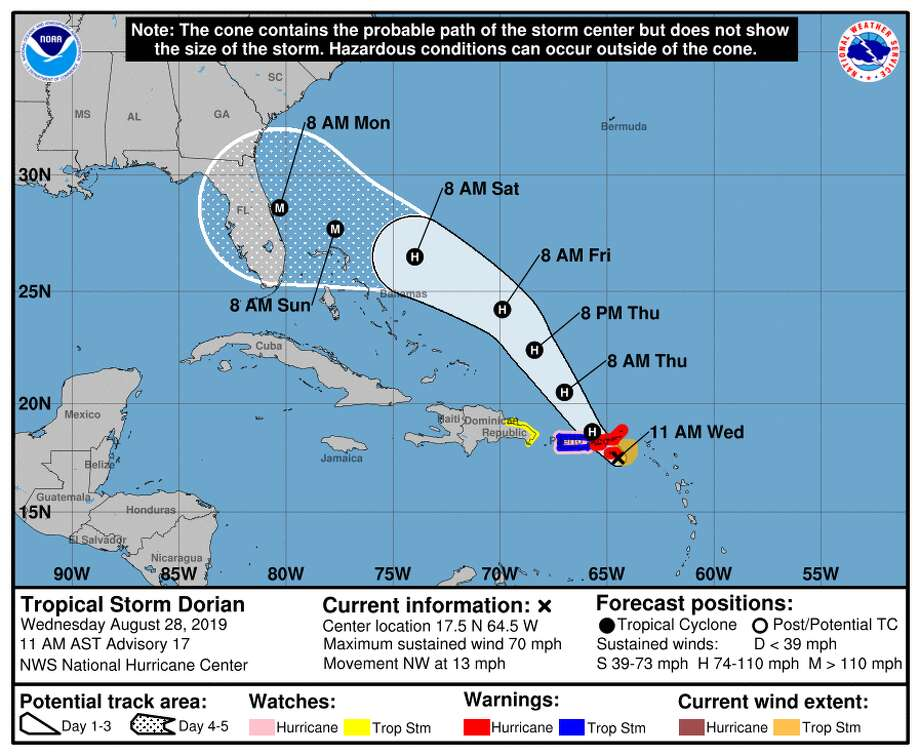 Dorian could become Category 3 hurricane, make landfall in