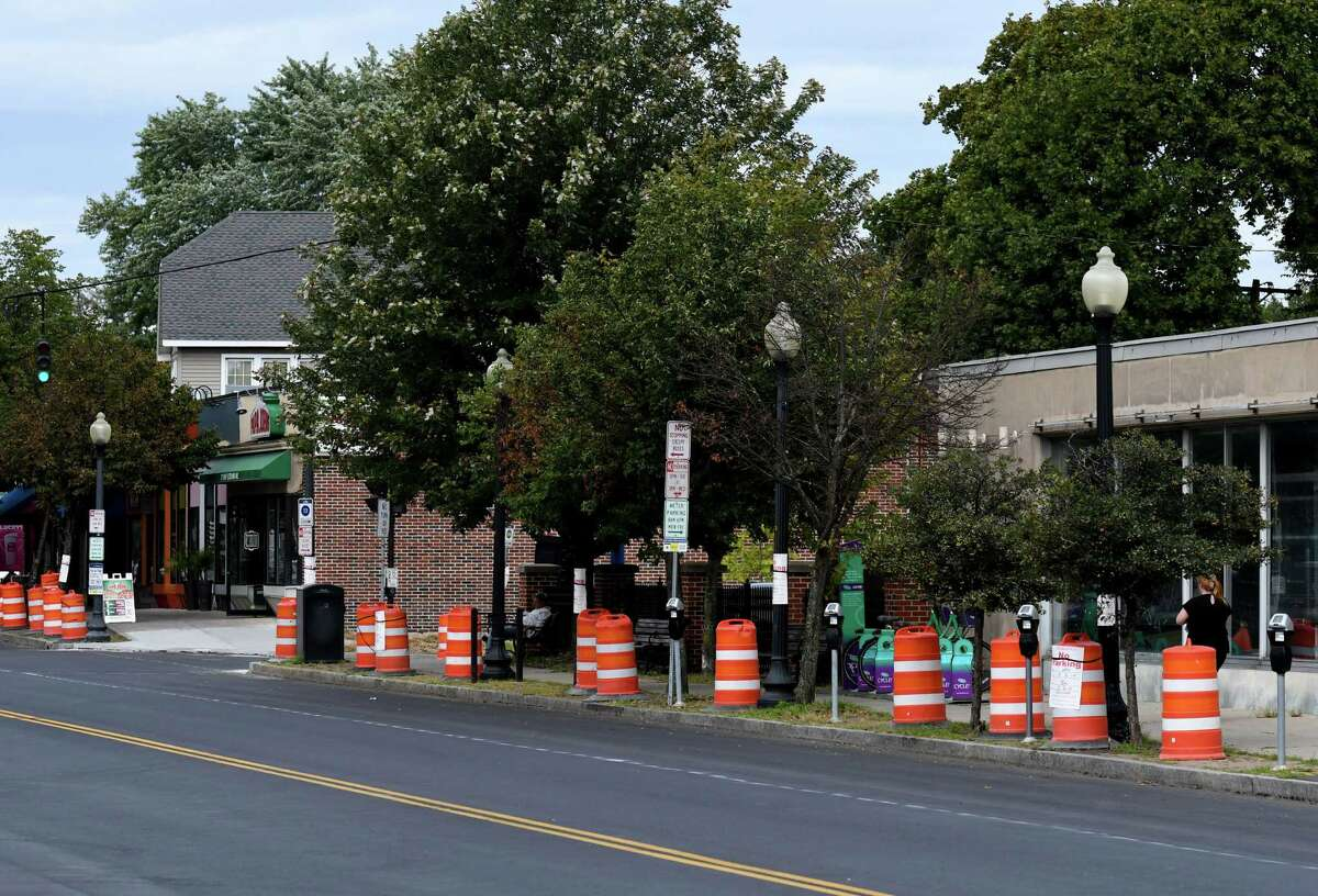 Site of a proposed development at 563 New Scotland Avenue at the corner of S. Allen Street on Wednesday, Aug. 28, 2019, in Albany, N.Y. A reader has questions about part of New Scotland Avenue, and why motorists take up more lanes than are there. (Will Waldron/Times Union)