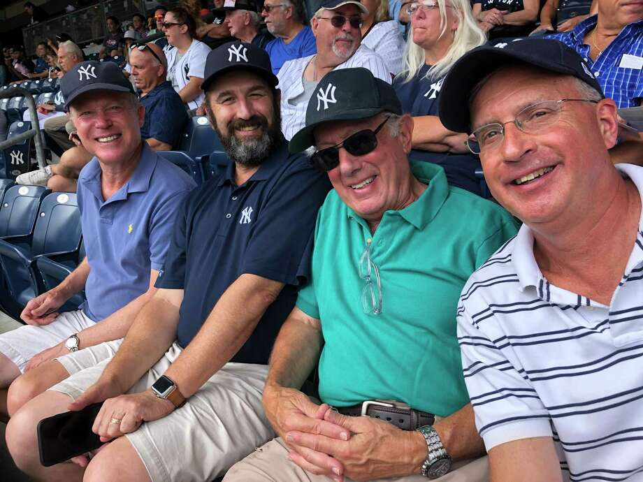 Members of the New Canaan Men's Club take in a New York Yankees' game against the Baltimore Orioles. Photo: New Canaan Mens Club / Contributed Photos / New Canaan Advertiser Contributed