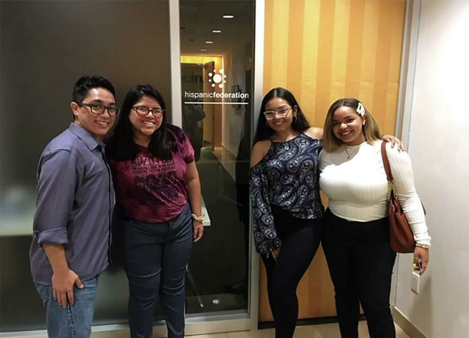 CREAR Futuros, sponsored by the Hispanic Federation, recently held its annual 3-day intensive training in New York City. Four Naugatuck Valley Community College students were among the student mentors who attended. Photo: Contributed Photo
