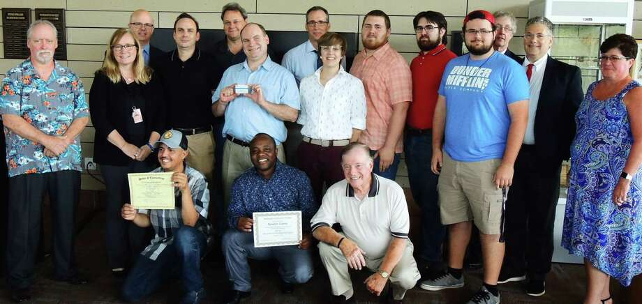 Workforce Alliance, Middlesex Community College and Vinal Tech High School leaders were joined by families and supporters Aug. 12 to celebrate graduates of the first Skill Up for Manufacturing class. Photo: Contributed Photo