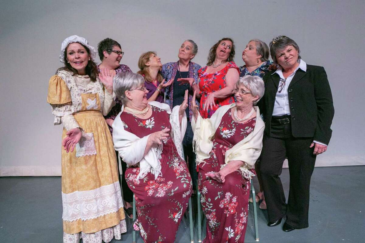 """The cast of Stage Right's season opener """"The Wild Women of Winedale,"""" a brand new comedy by Jessie Jones, Nicholas Hope and Jamie Wooten at the Crighton Theatre through Sept. 22."""