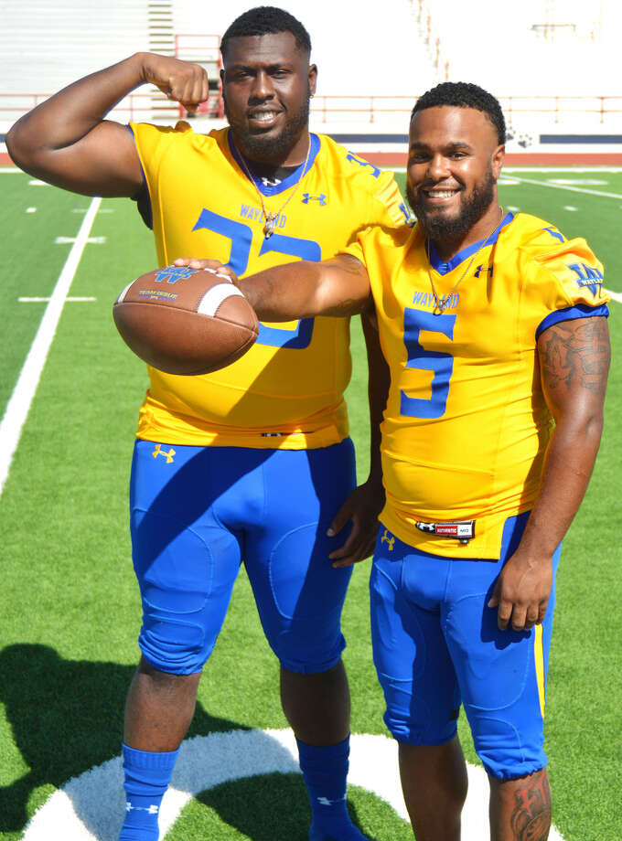 Seniors JaQuavious Dean and DeSean Johnson are confident that the 2019 Wayland Baptist football team is capable of much more than some may think. Photo: Nathan Giese/Planview Herald