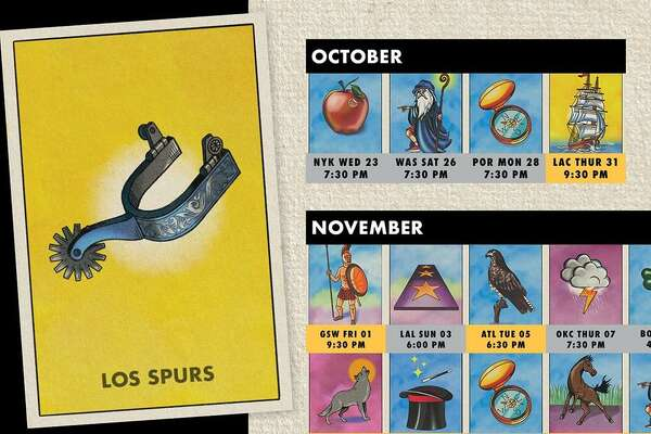 graphic relating to Loteria Cards Printable named San Antonio Spurs offer time routine by means of lotería playing cards