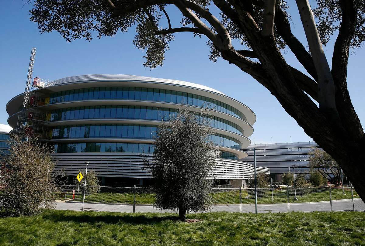 Construction work on an office complex for Apple nears completion at 222 North Wolfe Road in Sunnyvale, Calif. on Tuesday, Feb. 20, 2018.