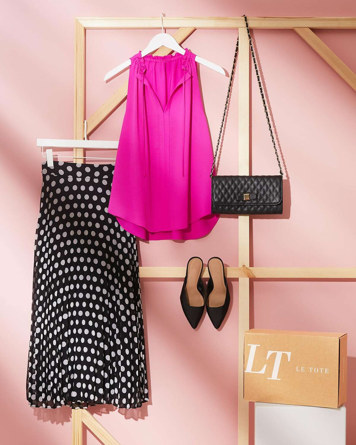 Le Tote, an online rental clothing company curates monthly outfits for its subscribers.