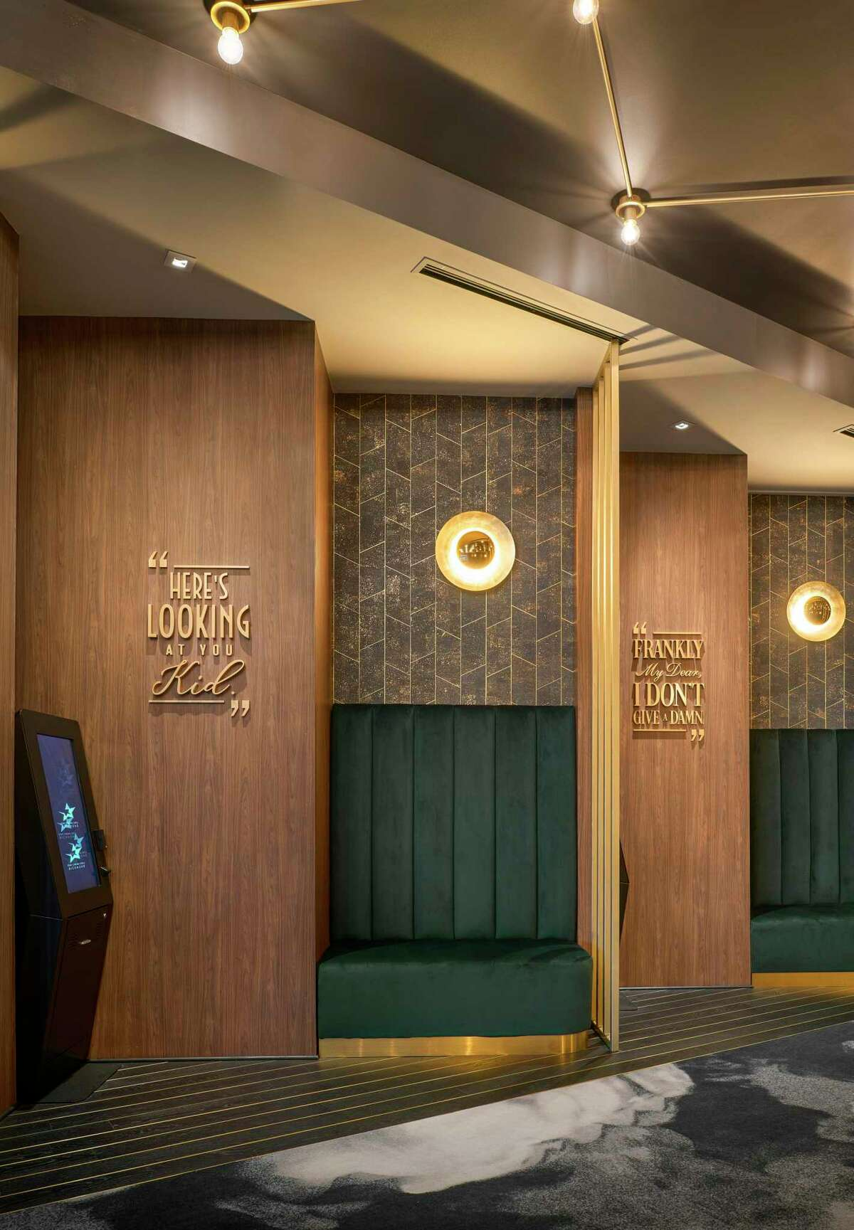 Star Cinema Grill will give its Baybrook Mall location an Old Hollywood ambiance using a palette of green and gray with marble sprinkled throughout. The theater opened four years ago.