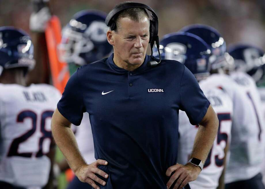 Coach Randy Edsall and the UConn football team kick off the season on Thursday against Wagner. Photo: Chris O'Meara / Associated Press / Copyright 2018 The Associated Press. All rights reserved.