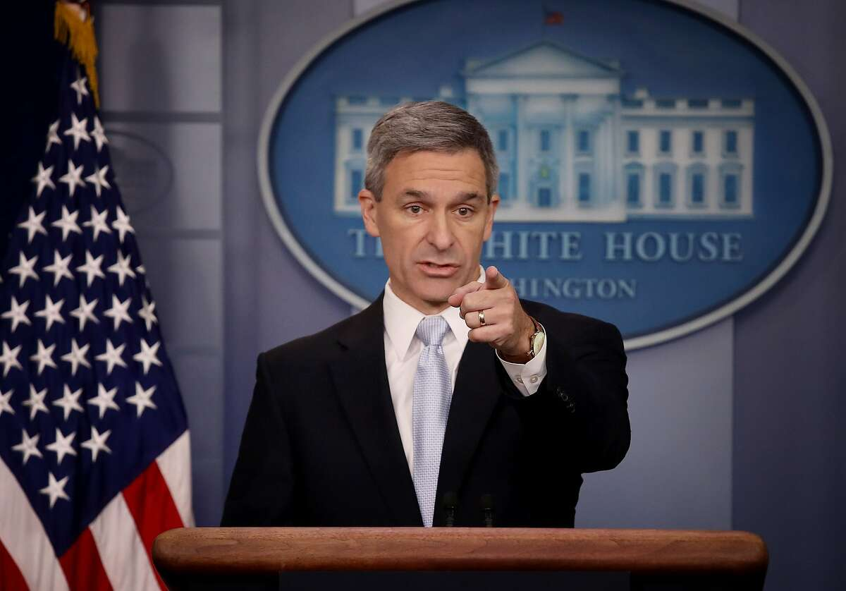 Acting Director of U.S. Citizenship and Immigration Services Ken Cuccinelli speaks about immigration policy at the White House during a briefing August 12, 2019 in Washington, DC. During the briefing, Cuccinelli said that immigrants legally in the U.S. would no longer be eligible for green cards if they utilize any social programs available in the nation. (Photo by Win McNamee/Getty Images)