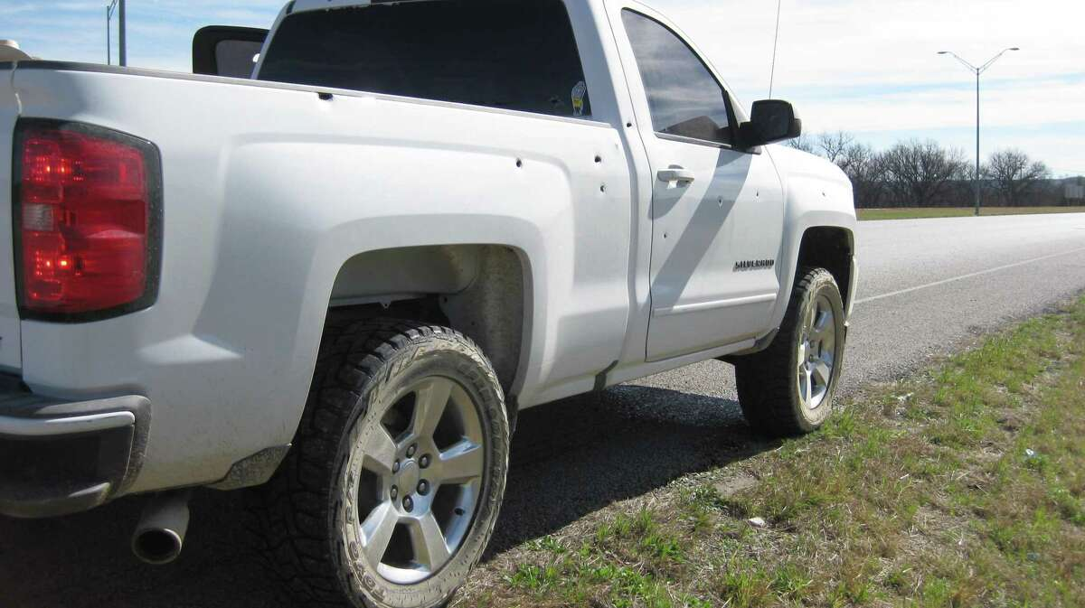 Kimble County Sheriff Hilario Cantu shot Hugo Reyes's pickup 10 times.