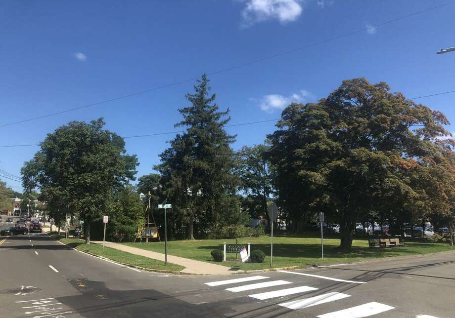 The area near the New Canaan Library, and at the intersection of Maple Street, and South Avenue in New Canaan, Connecticut where the Summer Theatre of New Canaan held their 2019 season. Contributed photo Photo: Contributed Photo