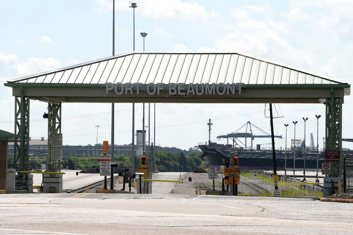 Entrance to the Port of Beaumont. Photo taken Tuesday, 7/9/19