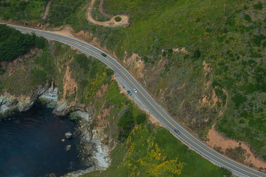 Highway 1, the only road to and out of Big Sur, is long and winding and sometimes there are traffic surprises that make for careful driving.