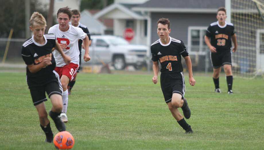 Harbor Beach battled Roeper in what was a 5-0 loss at home on Wednesday, Aug. 28. Photo: Eric Rutter / Huron Daily Tribune