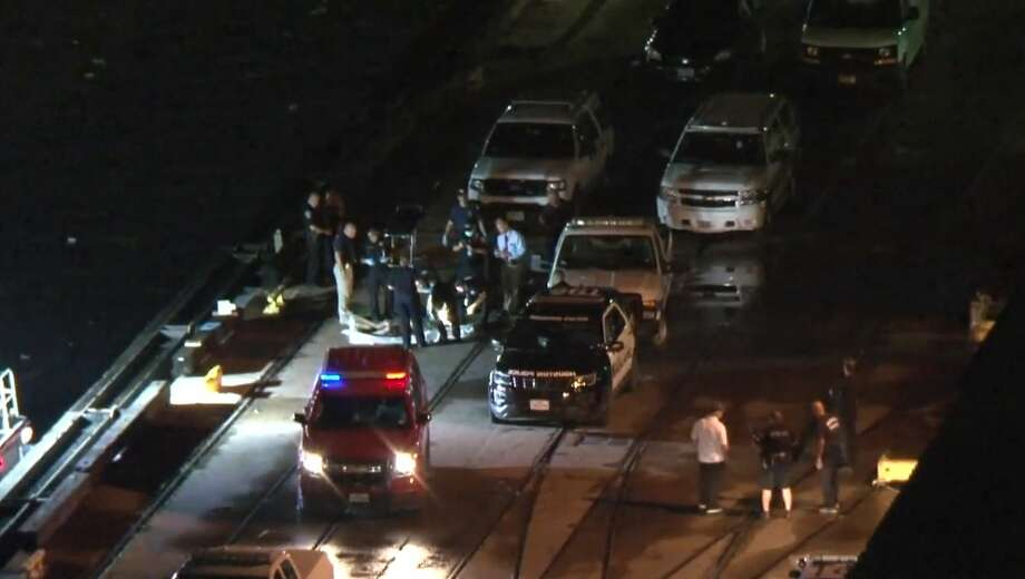 A body was found Wednesday night in Buffalo Bayou after thunderstorms drenched the Houston-area during rush hour, police said. Photo: Metro Video Services