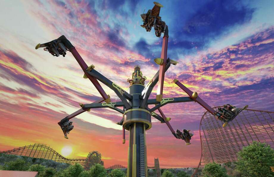 Six Flags Fiesta Texas is planning to open a new ride called Daredevil Dive Flying Machines next summer. Photo: Illustration Courtesy Of Six Flags Fiesta Texas